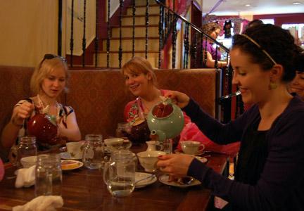 Alex, me, Jill - pouring tea