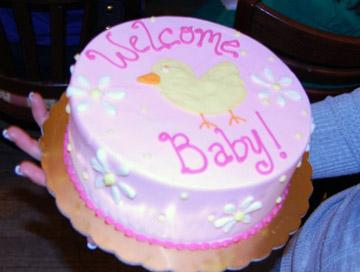 Raspberry/lemon rubber ducky cake!