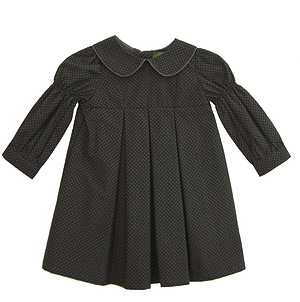 Troizenfants Khaki Cotton Spot Dress at The Emperor's New Clothes