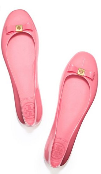 Tory Burch pink jelly flat