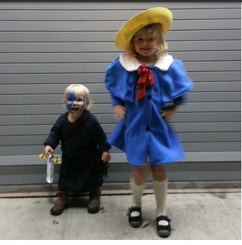 In their Halloween finery. William Wallace and Madeline.